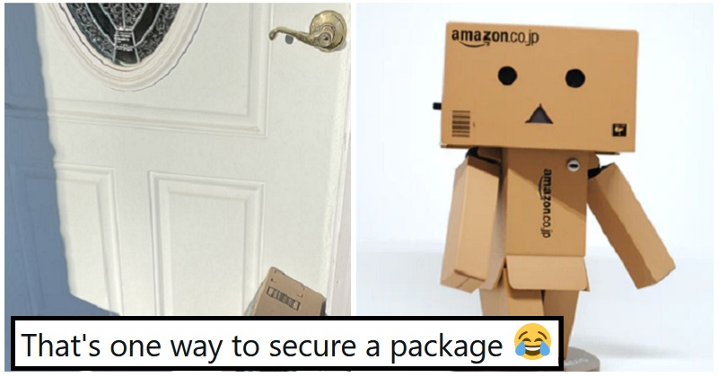 """Just stick the parcel on the doorstep"" - the poke"