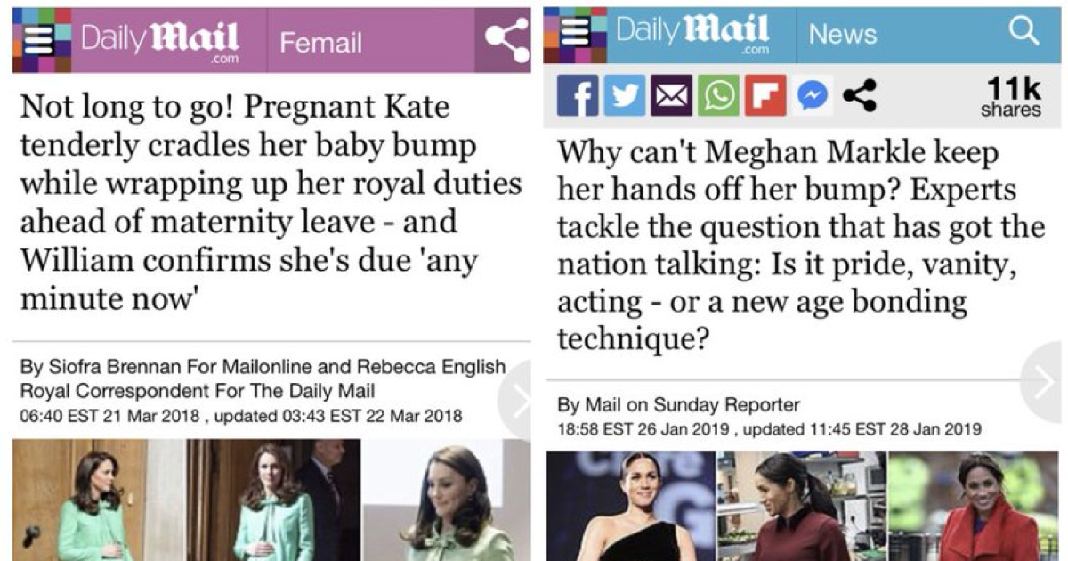 These contrasting headlines about Meghan Markle and Kate Middleton went viral after the Sussexes' Oprah interview - the poke