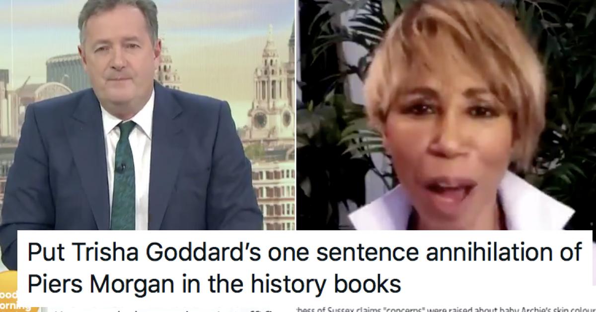 People enjoyed Trisha Goddard's takedown of Piers Morgan over Meghan Markle and racism - the poke