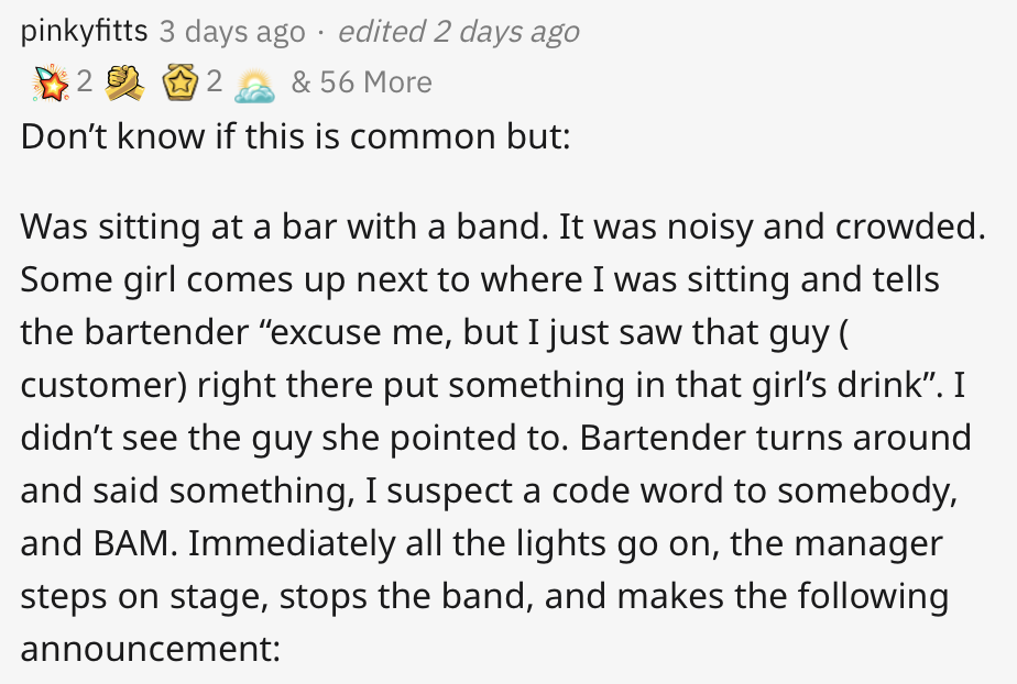 People love this bar's response to a woman's drink being spiked