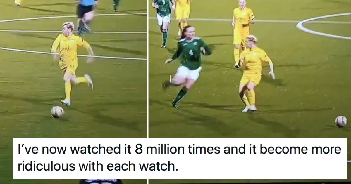 Worst tackle ever? You won't see a more professional 'professional foul' than this one