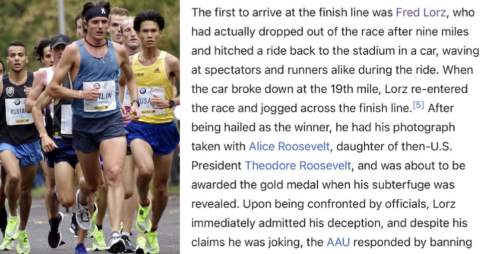 The tale of the 1904 Olympics men's marathon just went viral because it's so extraordinary