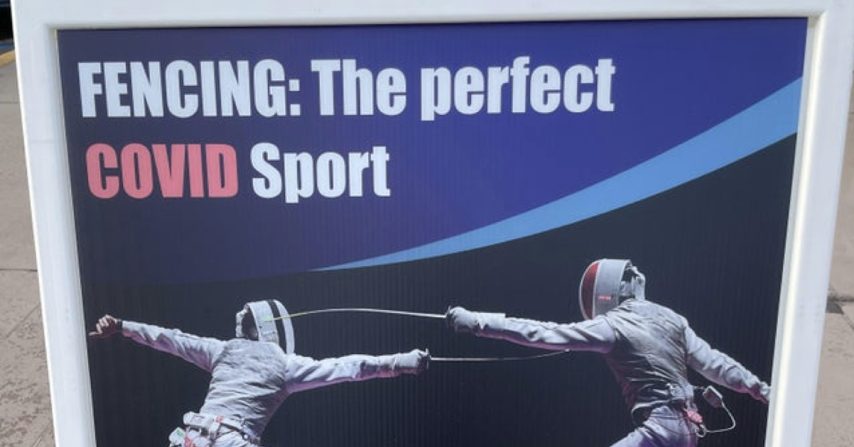 This hilarious 'Covid' fencing advert makes its point brilliantly - the poke