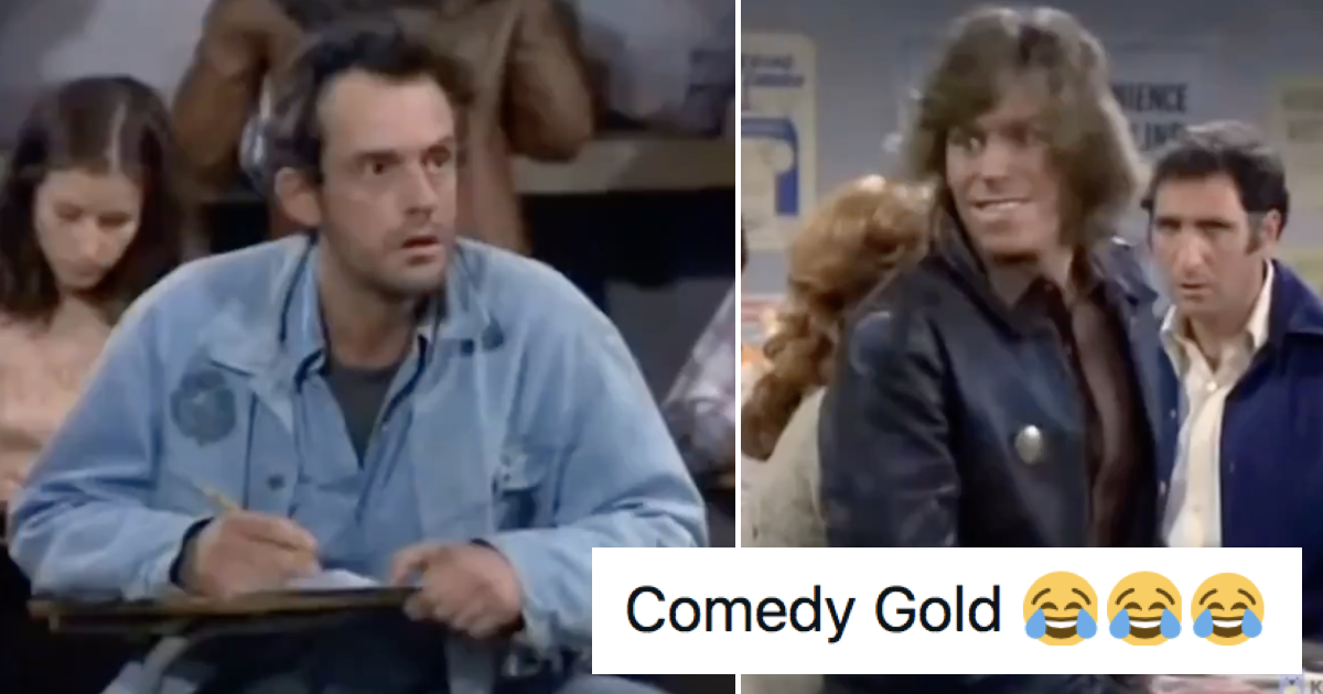 This old Taxi clip with Christopher Lloyd has gone viral because it's so good - the poke