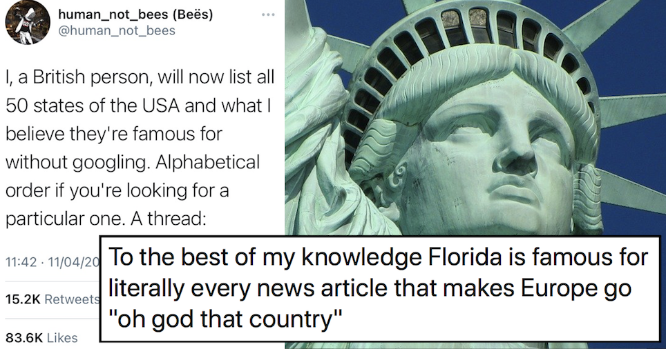 This Brit's hilarious guide to America's 50 states 'without Googling' is a very funny read