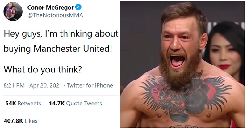 Conor McGregor wants to buy Manchester United and this comeback was a TKO - the poke