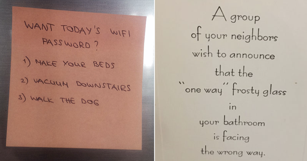 Simply 27 hilarious notes from the frontline of domestic life - the poke