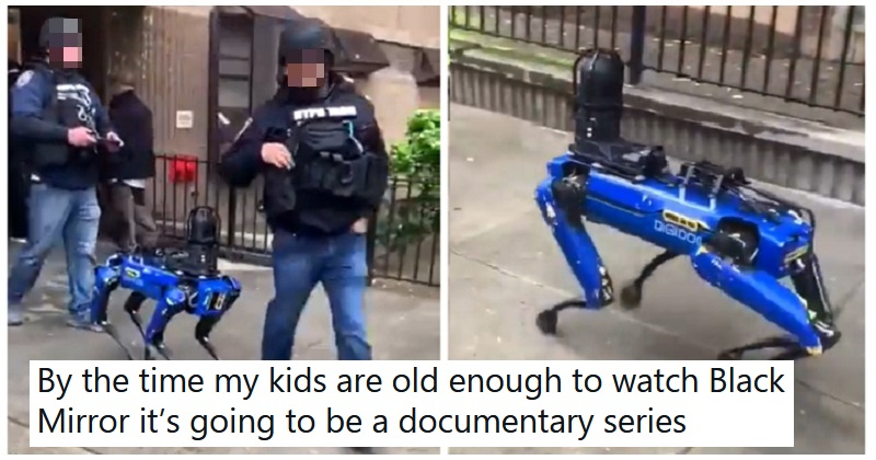 NYPD went full Black Mirror with a robot dog and the reactions were exactly as you'd expect - the poke