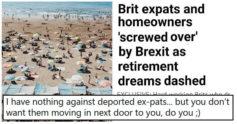 This Leave.EU tweet about the effect of Brexit on Brits in Spain has aged really badly