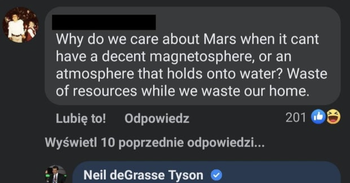 This astrophysicist's takedown of a Mars sceptic blasted them into orbit