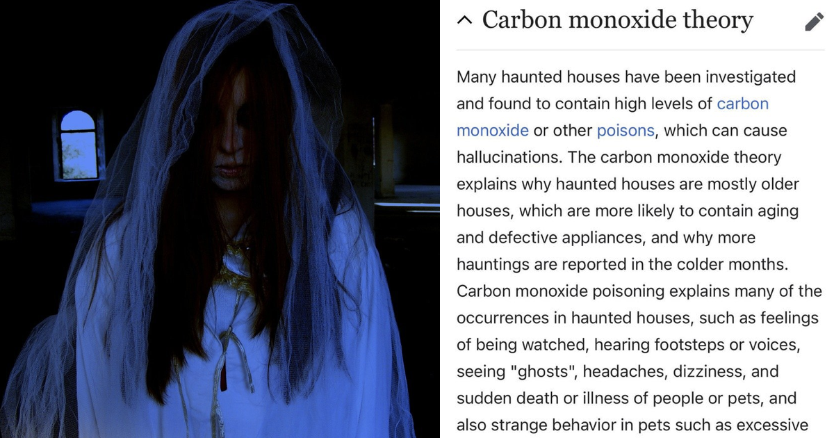 This 'carbon monoxide' theory about haunted houses went viral and suddenly it all makes sense