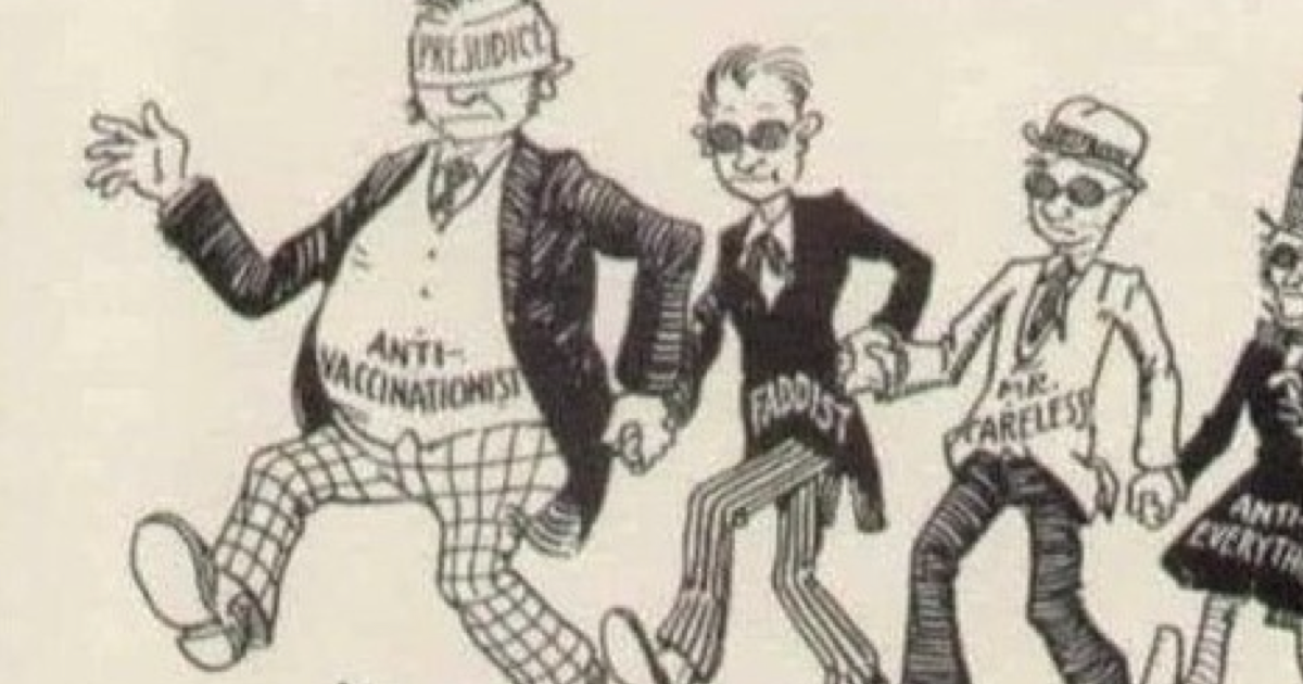 This 1930s 'anti-vaxxer' cartoon is a grim reminder how history repeats itself