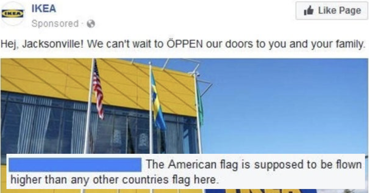 Ikea's epic takedown of this flag-waving American went viral all over again - the poke