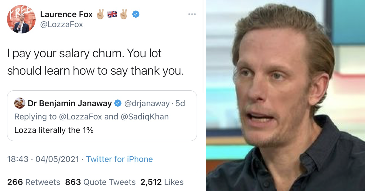 An NHS doctor trolled by Laurence Fox just had the perfect last word and it's glorious - the poke