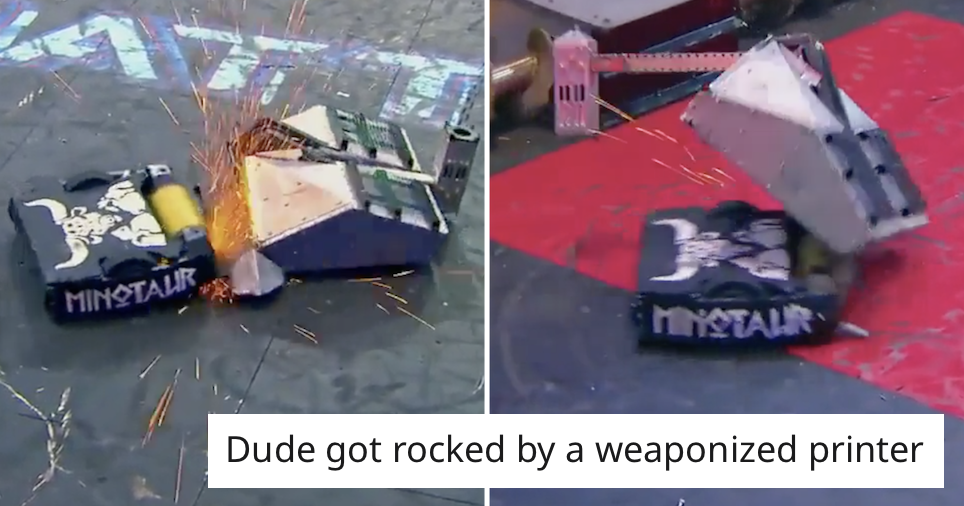 This epic Battlebots confrontation went viral and got us nostalgic for Robot Wars - the poke