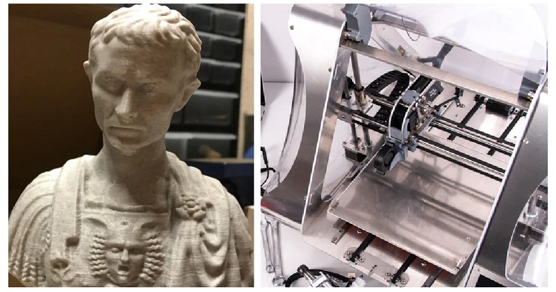 This 3D-printed Julius Caesar has an apt surprise - the poke