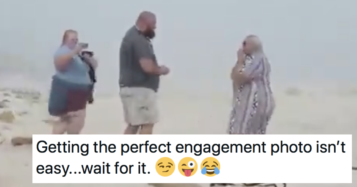 This engagement video didn't go entirely to plan and it's glorious