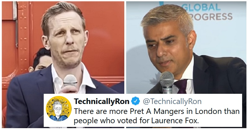 Laurence Fox's catastrophic London mayoral election results got the response you'd expect - the poke