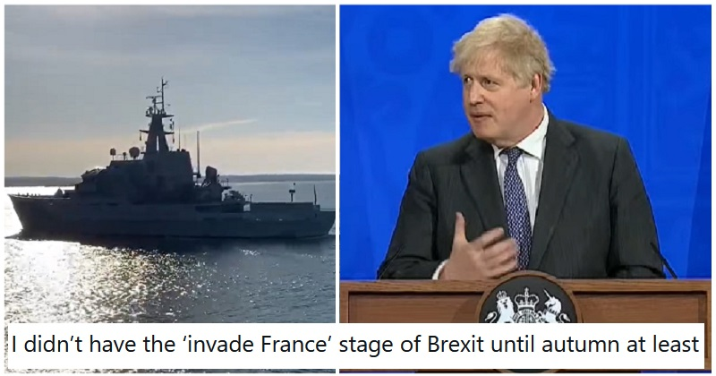 The UK has sent the Navy to monitor a fishing dispute between France and Jersey – 17 shots across the bow - the poke