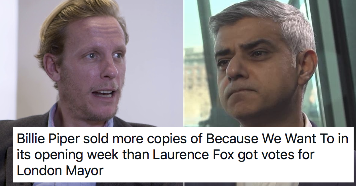 Sadiq Khan joined in trolling Laurence Fox and it won everyone's vote - the poke