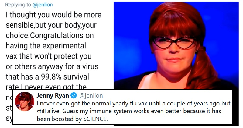 An anti-vaxxer went head to head with two Chasers and it went much as you'd expect