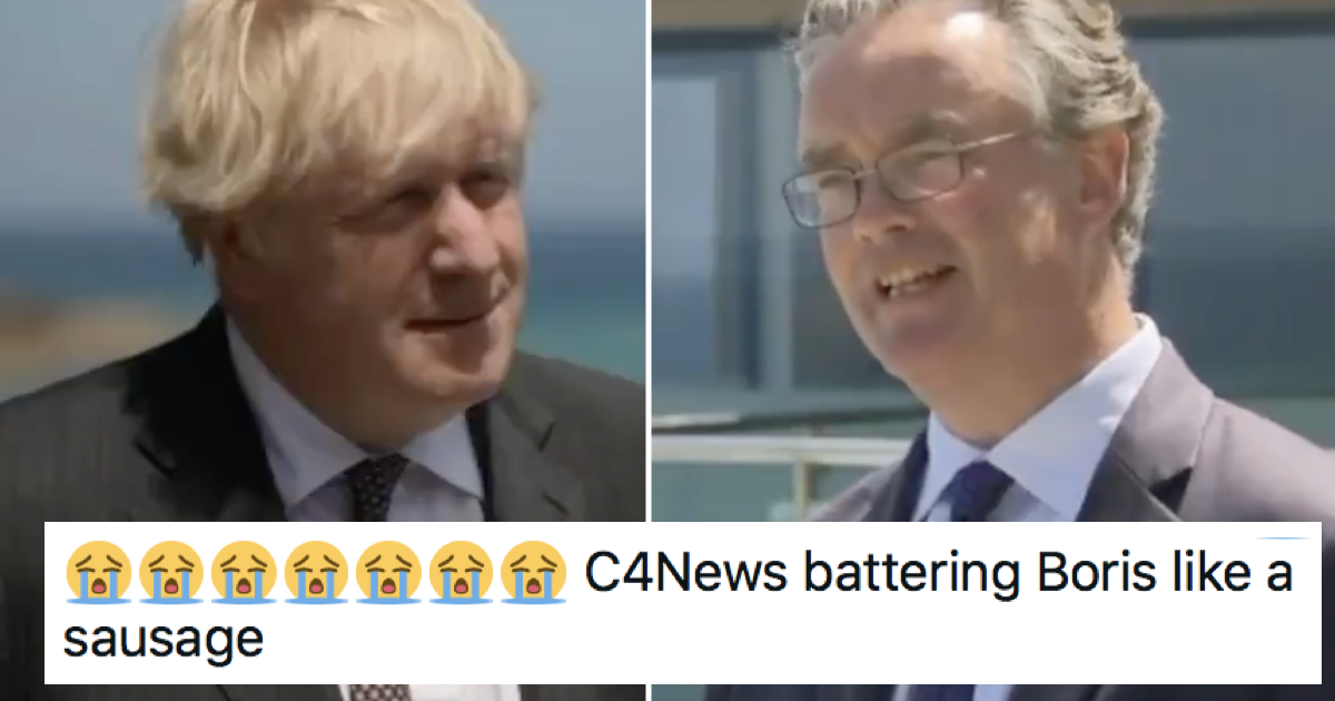 Channel 4 News brutally dismantled Boris Johnson and it's quite the watch