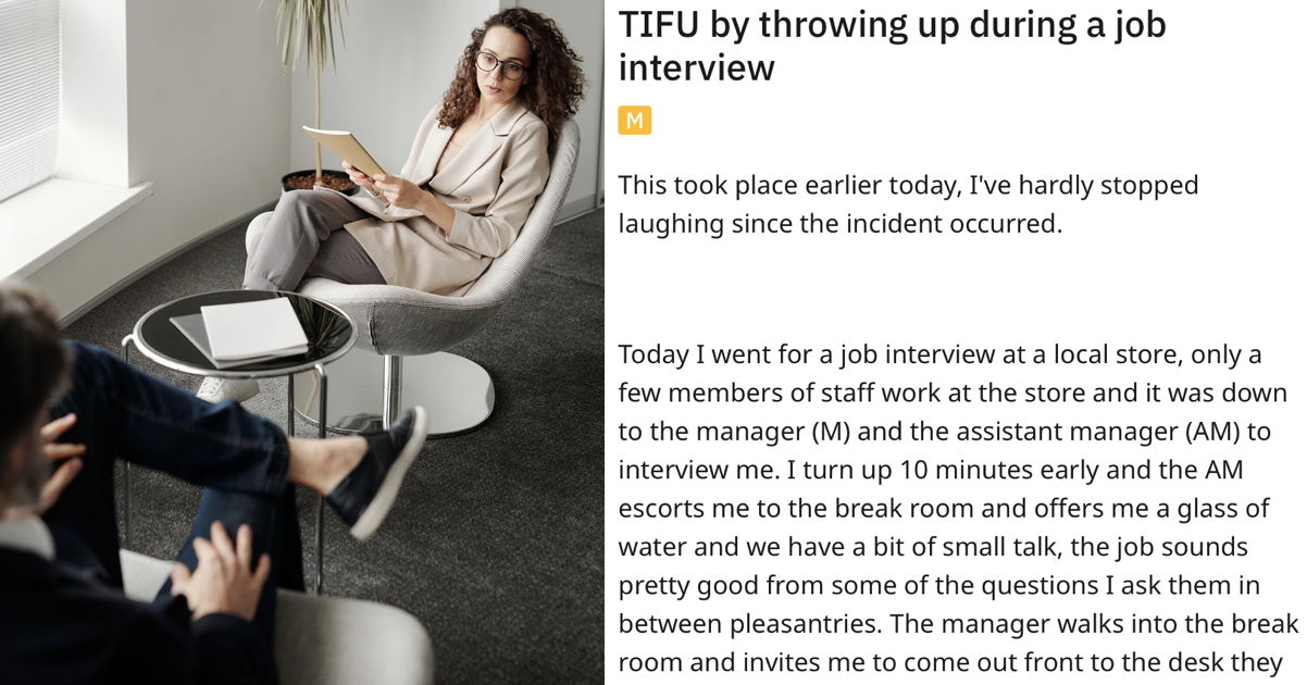 This tale of a job interview gone epically wrong had people in horrified hysterics