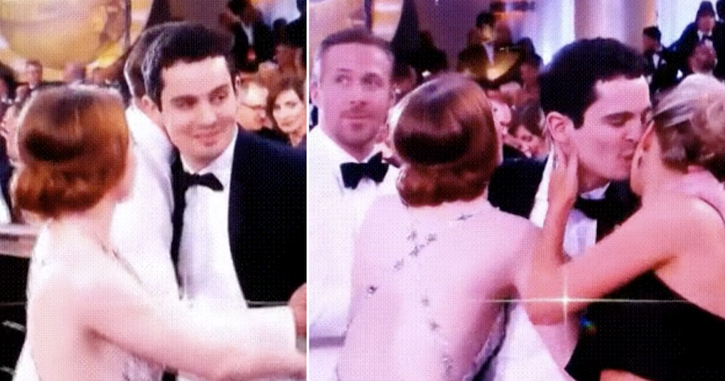 Emma Stone's comedy air kiss went viral all over again because it's simply epic