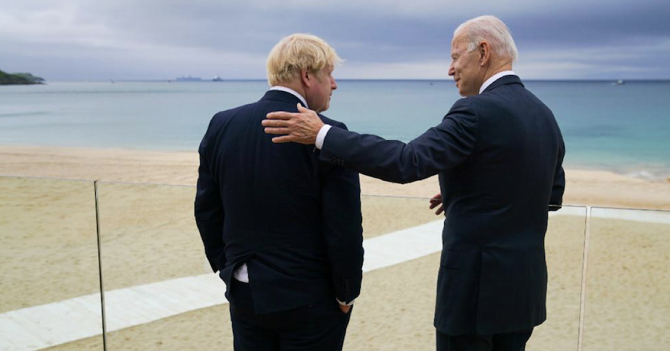 17 funniest things people said about this photo of Boris Johnson and Joe Biden