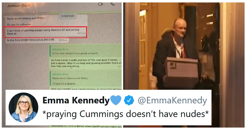 Dominic Cummings shone a light on government failings with WhatsApp screenshots - the poke