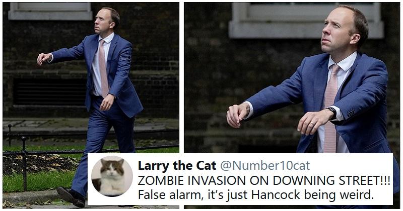 Our 17 favourite funny responses to Matt Hancock's latest weird walk