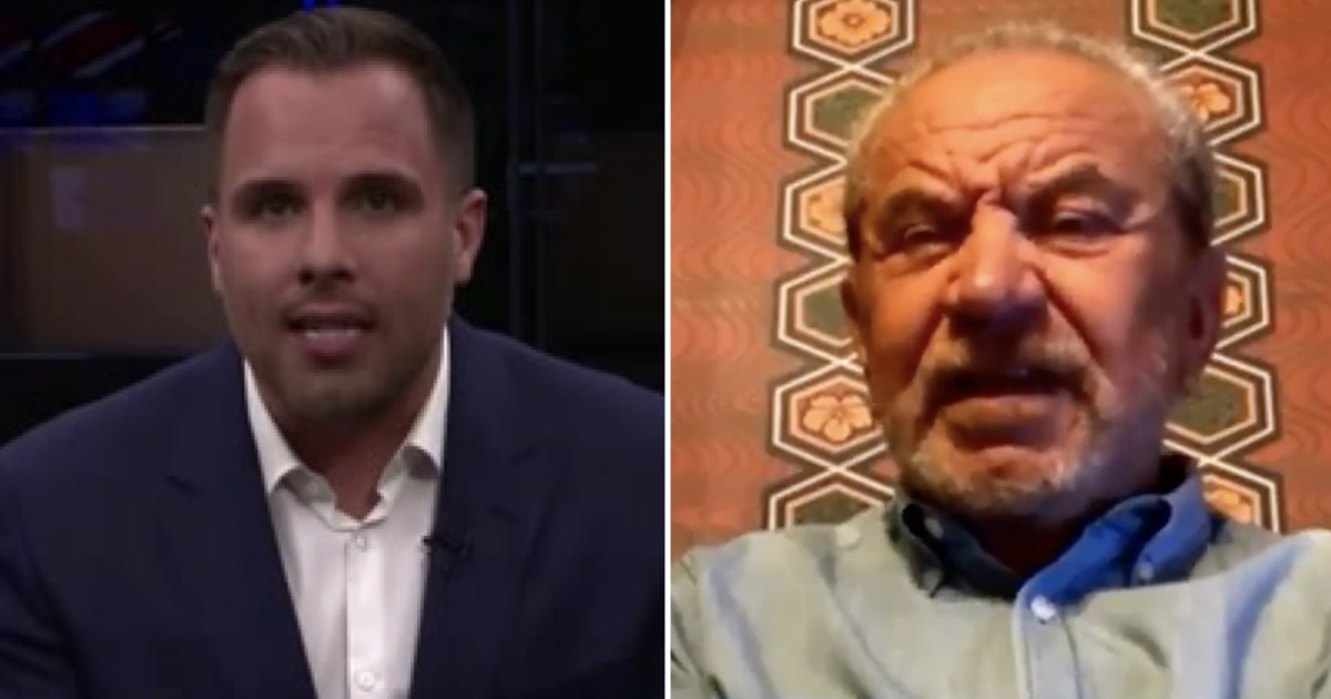 Alan Sugar mocking Dan Wootton's 'taking the knee' question is the only 16 seconds of GB News worth watching