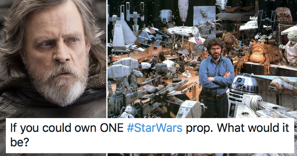 Mark Hamill always has the best response to this Star Wars 'prop' question