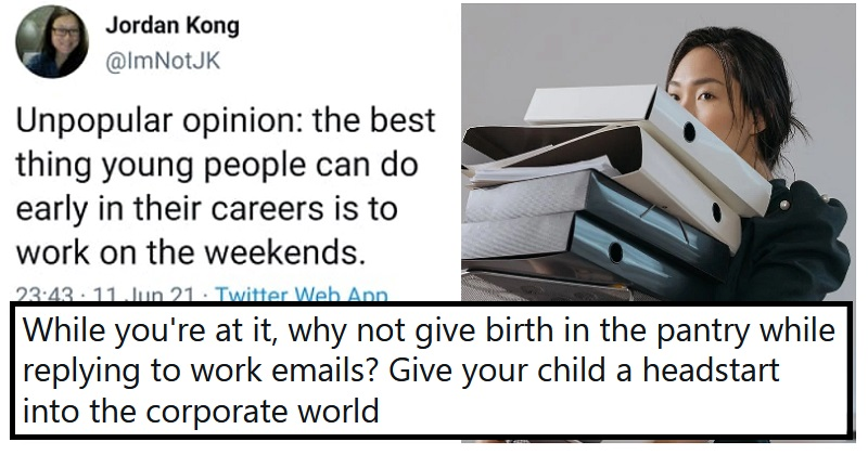 Someone advised young workers against taking weekends off and got comprehensively dragged - the poke