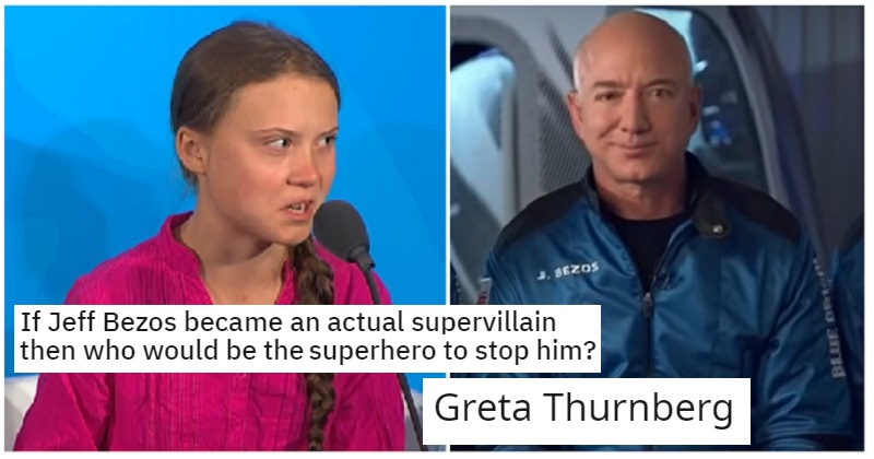 If Jeff Bezos become an actual supervillain then who would be the superhero to stop him? - the poke