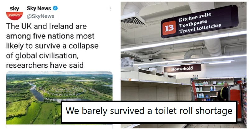 UK and Ireland among the 5 countries most likely to survive global civilisation collapse – 11 funniest responses