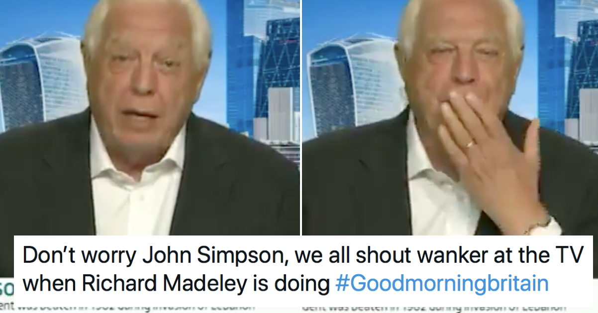 John Simpson shouting 'wanker' on Good Morning Britain is just the lift we needed today - the poke