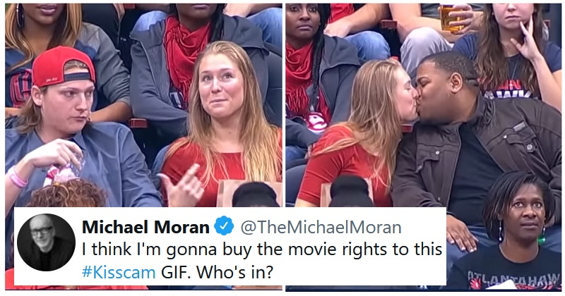 An awkward old kiss cam moment is giving people joy because it's such a mood