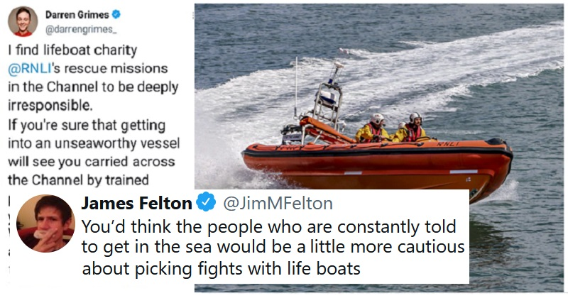 Nigel Farage and Darren Grimes took on the RNLI and the takedowns were a thing of beauty
