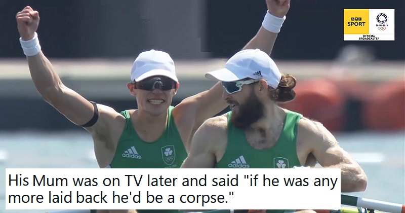 This Irish rower had the funniest answer after winning his country's first Olympic gold in the sport