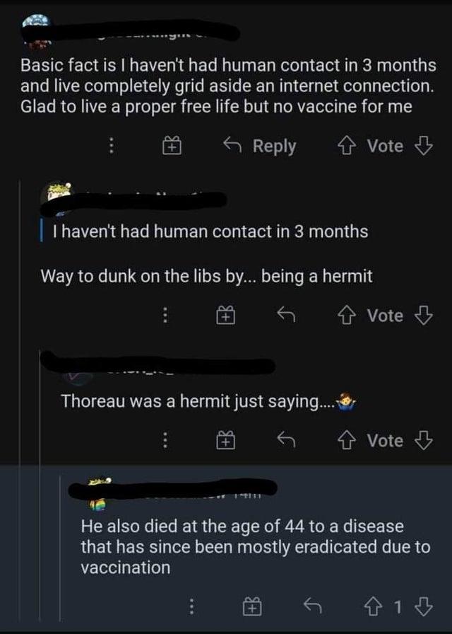 Anti-vaxxer self-own of the week