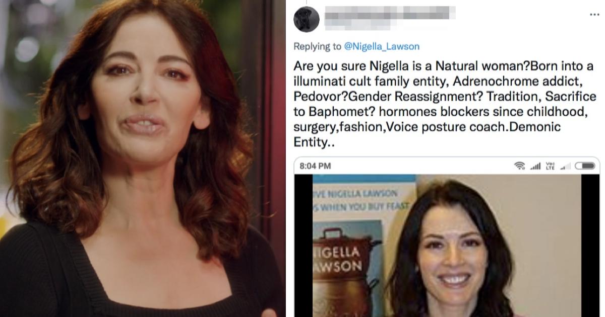 Nigella Lawson had the best response to this 'demonic entity' troll