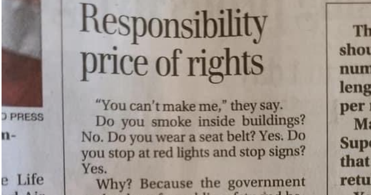 This newspaper letter went wildly viral and it's the perfect response to covidiots