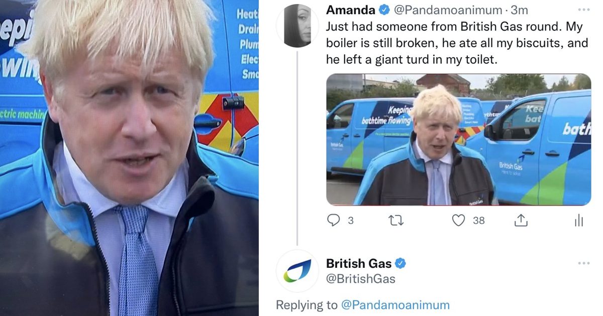 British Gas took this Boris Johnson joke seriously and it's today's best thing