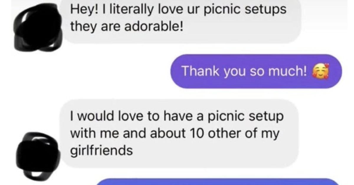 This influencer's picnic 'special offer' is a proper jaw dropper