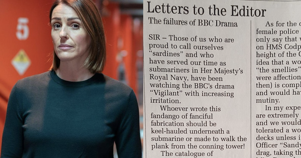Like a submarine, this fabulous Telegraph letter about BBC1's Vigil works on many levels