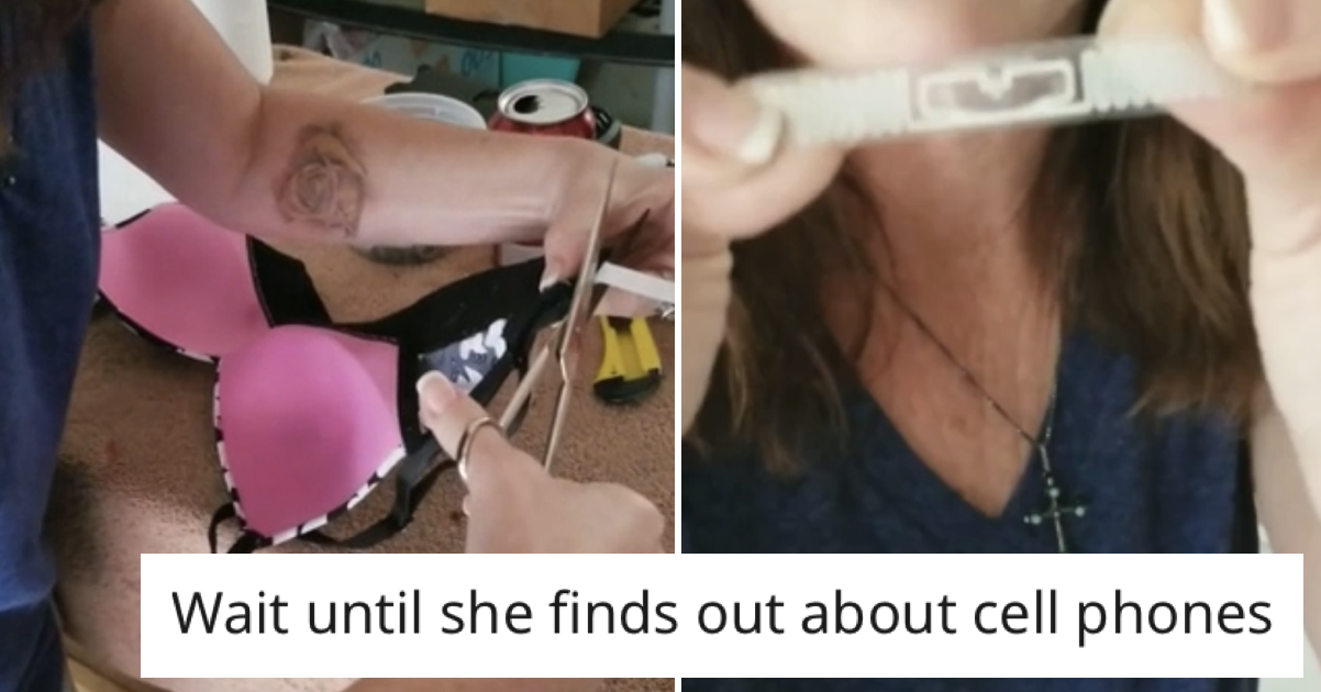 A conspiracy theorist's video of why her bra is tracking her went viral and there are no words - the poke