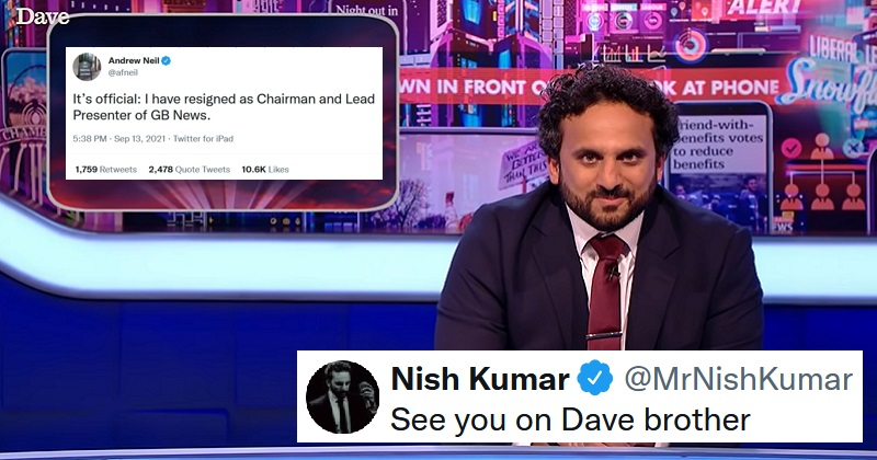 Nish Kumar had the funniest prediction of Andrew Neil's future TV career