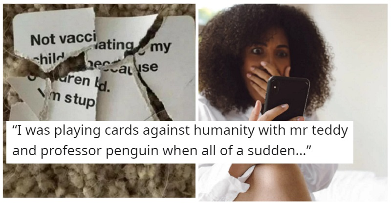 Cards Against Humanity ruined this anti-vaxxer's games night