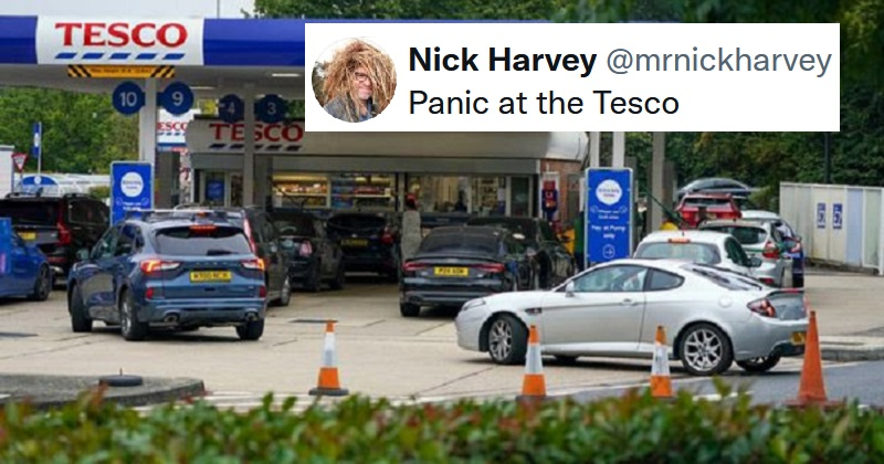 The best reactions to the 'not a fuel shortage' fuel shortage and visas for HGV drivers - the poke